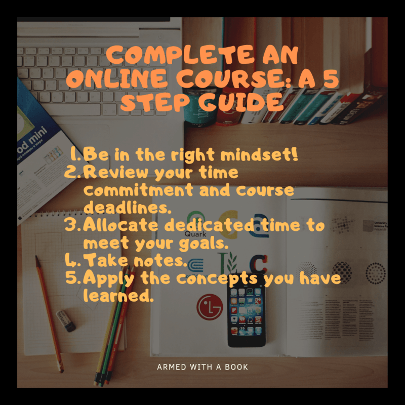 Complete an online course successfully – The 5 step guide in summary